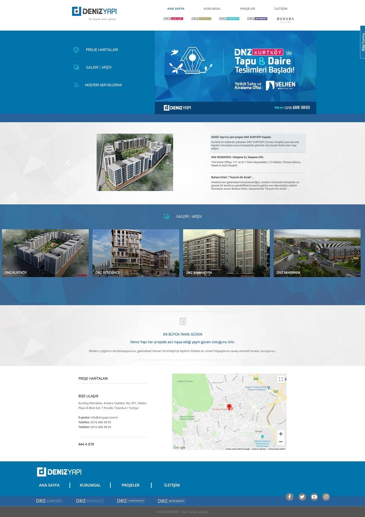 Deniz Yapı İnşaat Web Sitesi