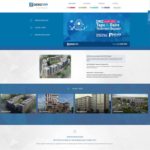 Deniz yapı inşaat web sitesi, inşaat kurumsal web sitesi