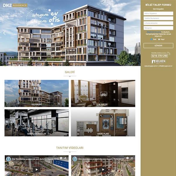 dnz residence web sitesi, residence kurumsal web sitesi