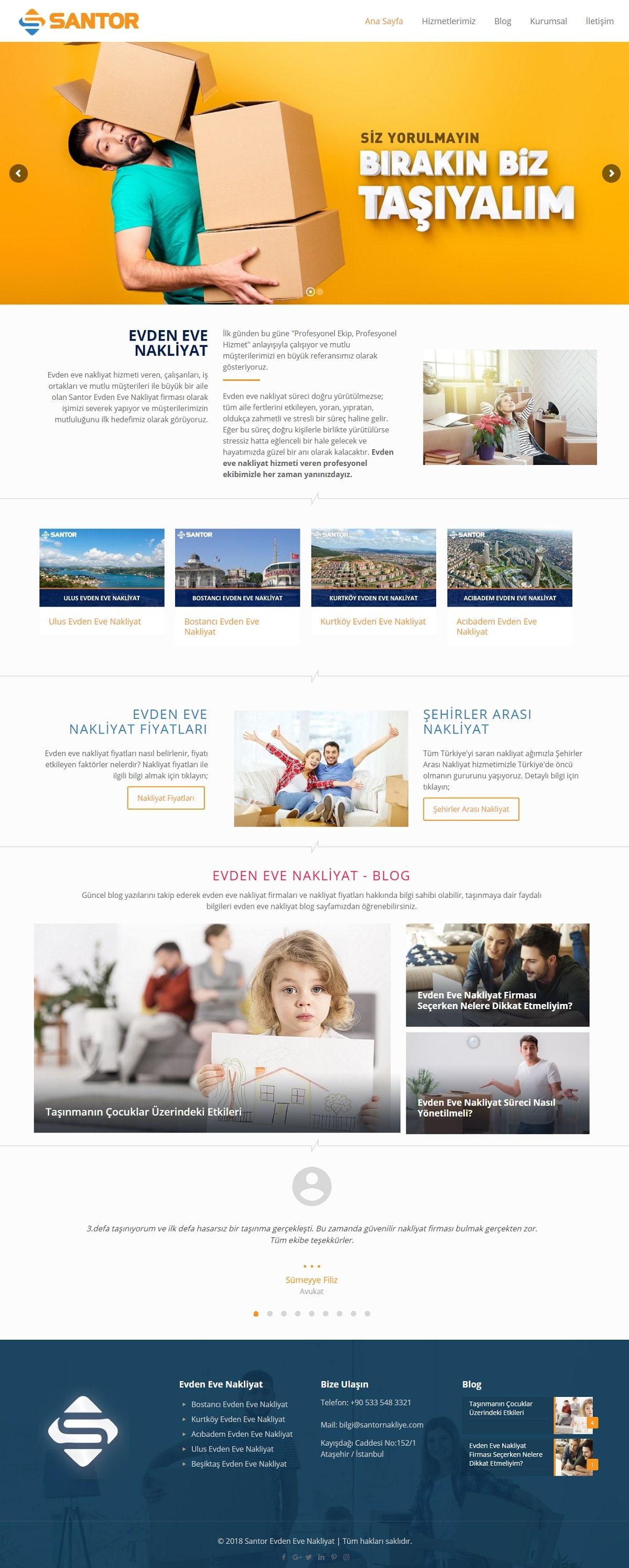 Santor Evden Eve Nakliyat Web Sitesi | Evden Eve Nakliyat Web Sitesi