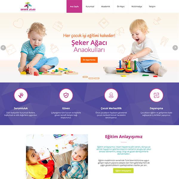 Şeker Ağacı Kreş Web Sitesi, okul öncesi kreş web sitesi, anaokulu web sitesi