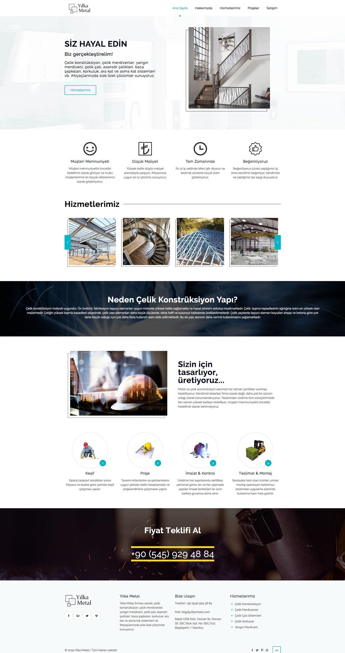 Yılka Metal Web Sitesi | Metal Çelik Konstrüksiyon Web Sitesi