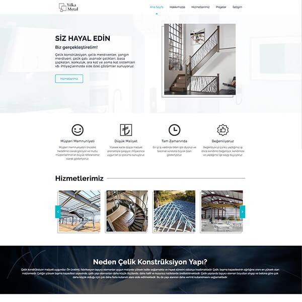 Yılka Metal Web Sitesi, Çelik konstrüksiyon web sitesi, metal çelik web sitesi